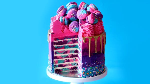 Blue And Purple Cake Designs