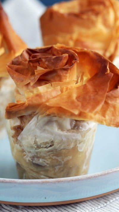 Banana Pudding Phyllo Pies