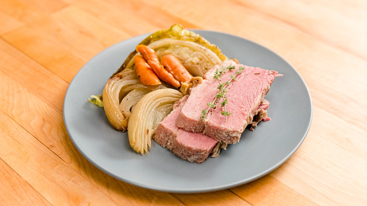 Braised Cabbage + Corned Beef Image