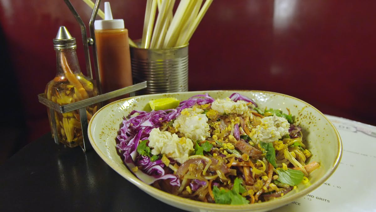 Pad Thai with Bacon and Fried Oysters  Image