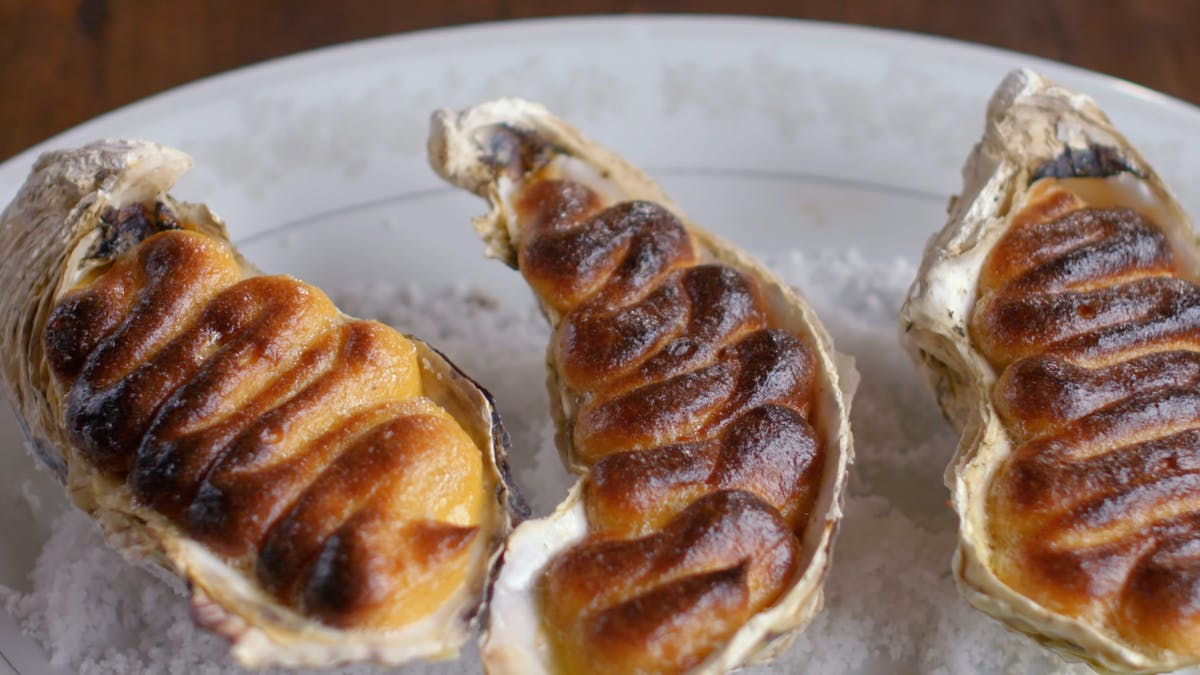 Baked Oyster with Marmite  Image
