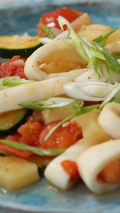 Sweet & Sour Squid & Vegetables