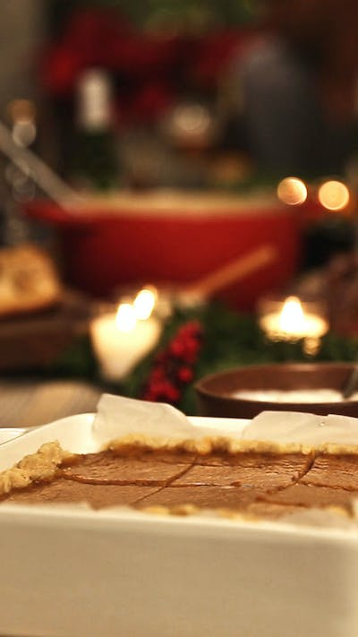 Pumpkin Pie Bars with Whipped Cream