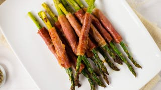PROSCIUTTO WRAPPED ASPARAGUS SPEARS HIGH RES IMAGE 1920X1080