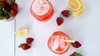 HONEY-SWEETENED STRAWBERRY LEMONADE HIGH RES IMAGE 1920X1080
