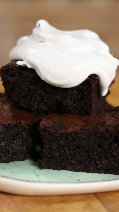 Quinoa Brownies with Coconut Whipped Cream