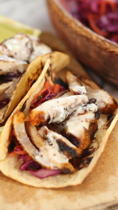 Chicken Tacos with Alabama BBQ Sauce