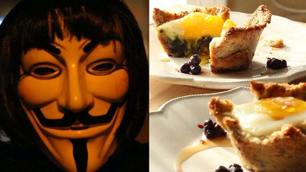 V for Vendetta | Inspired Recipe for Eggie in a Basket