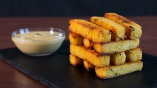 Baked Polenta Fries with Garlic Aioli 16x9