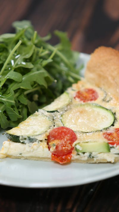 Parmesan, Sundried Tomatoes and Courgette Tart Quiche