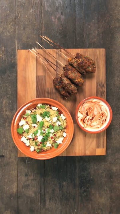 Lamb Kebabs with Giant Couscous