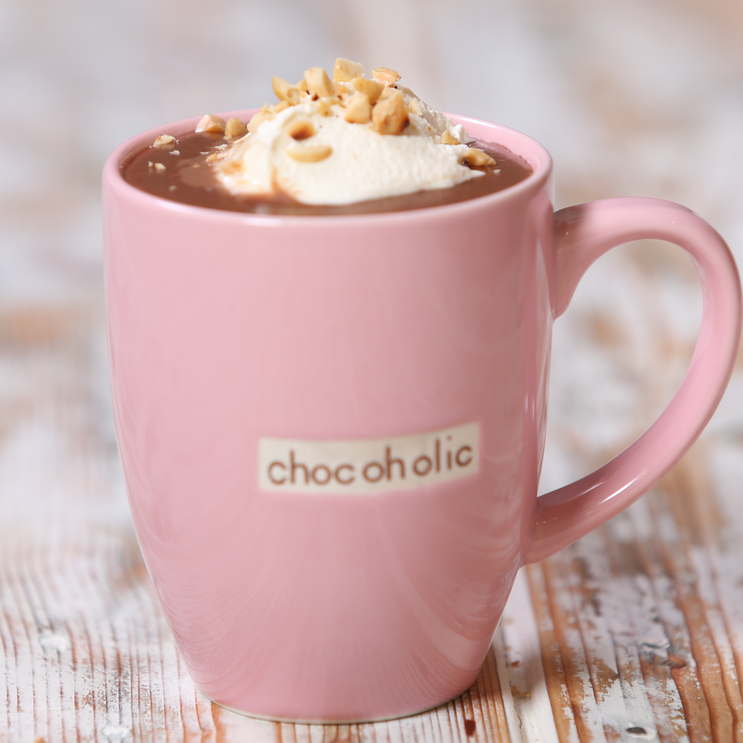 Image result for hot chocolate in pink cup