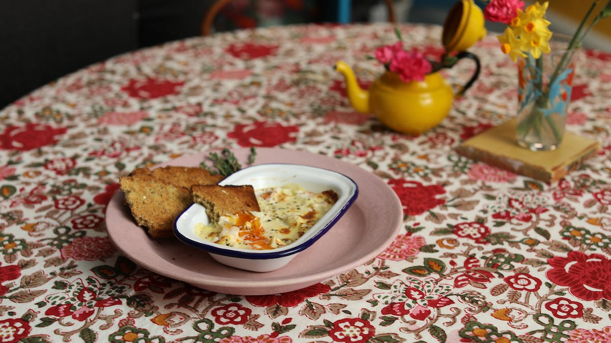 Baked Eggs with Ham & Cheese and Clodagh's Daily Happy Juice Image