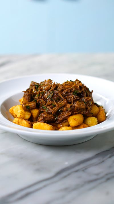 Fried Gnocchi With Pot Roast