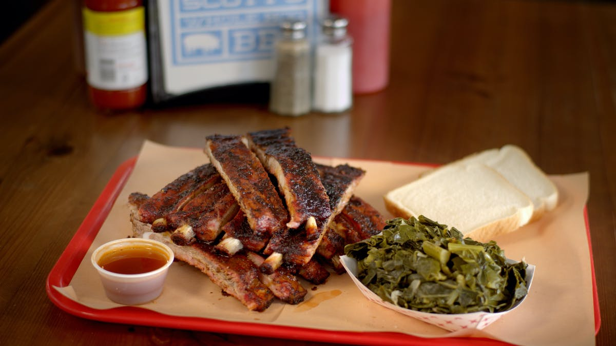 BBQ Spare Ribs with Collard Greens Image