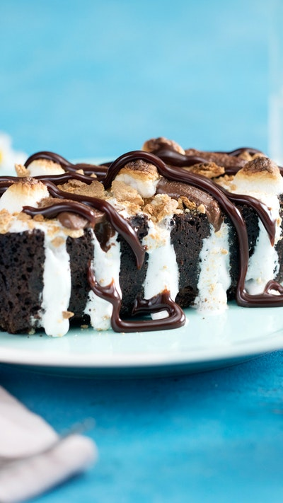 Hasselback S'mores Cake