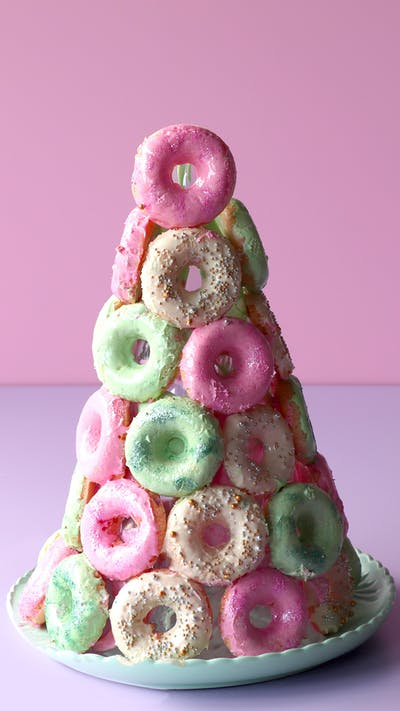 Sparkly Donut Tower
