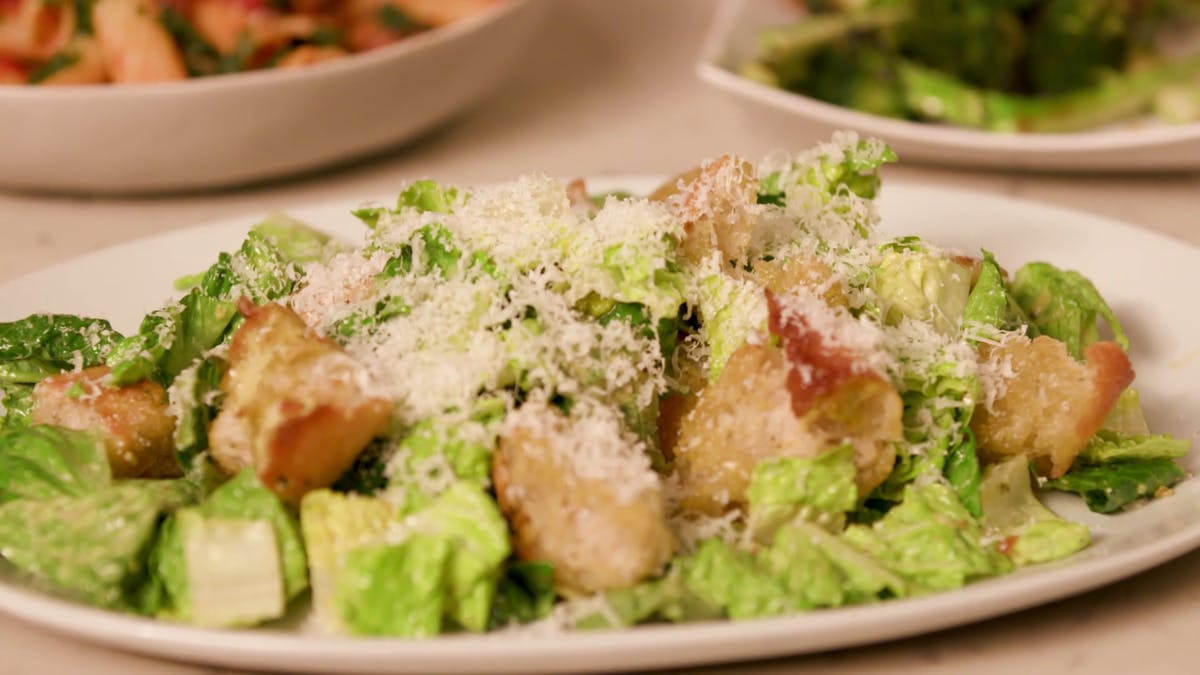 Jalapeno Spiked Caesar Salad with Garlicky Crouton Image