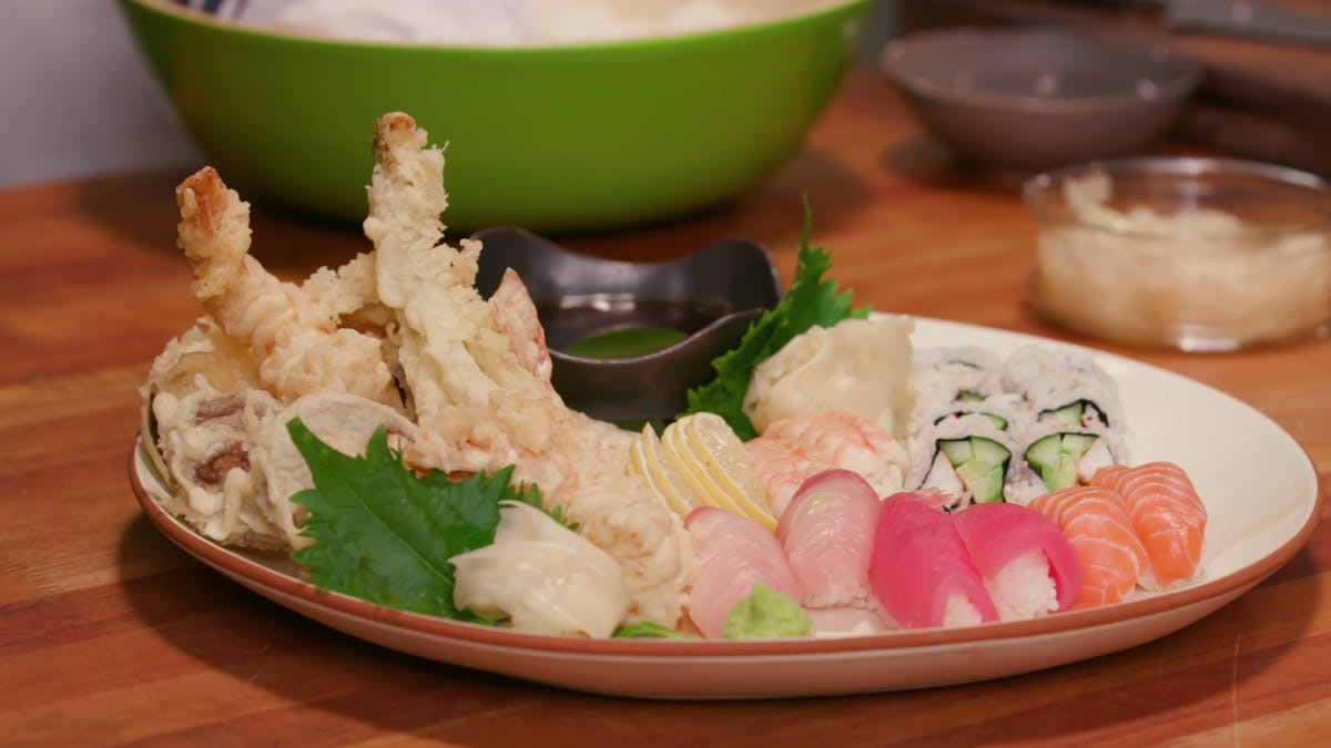 Shrimp and Vegetable Tempura Image