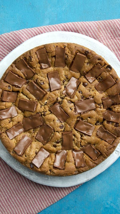 Giant S'more Stuffed Chocolate Chip Cookie