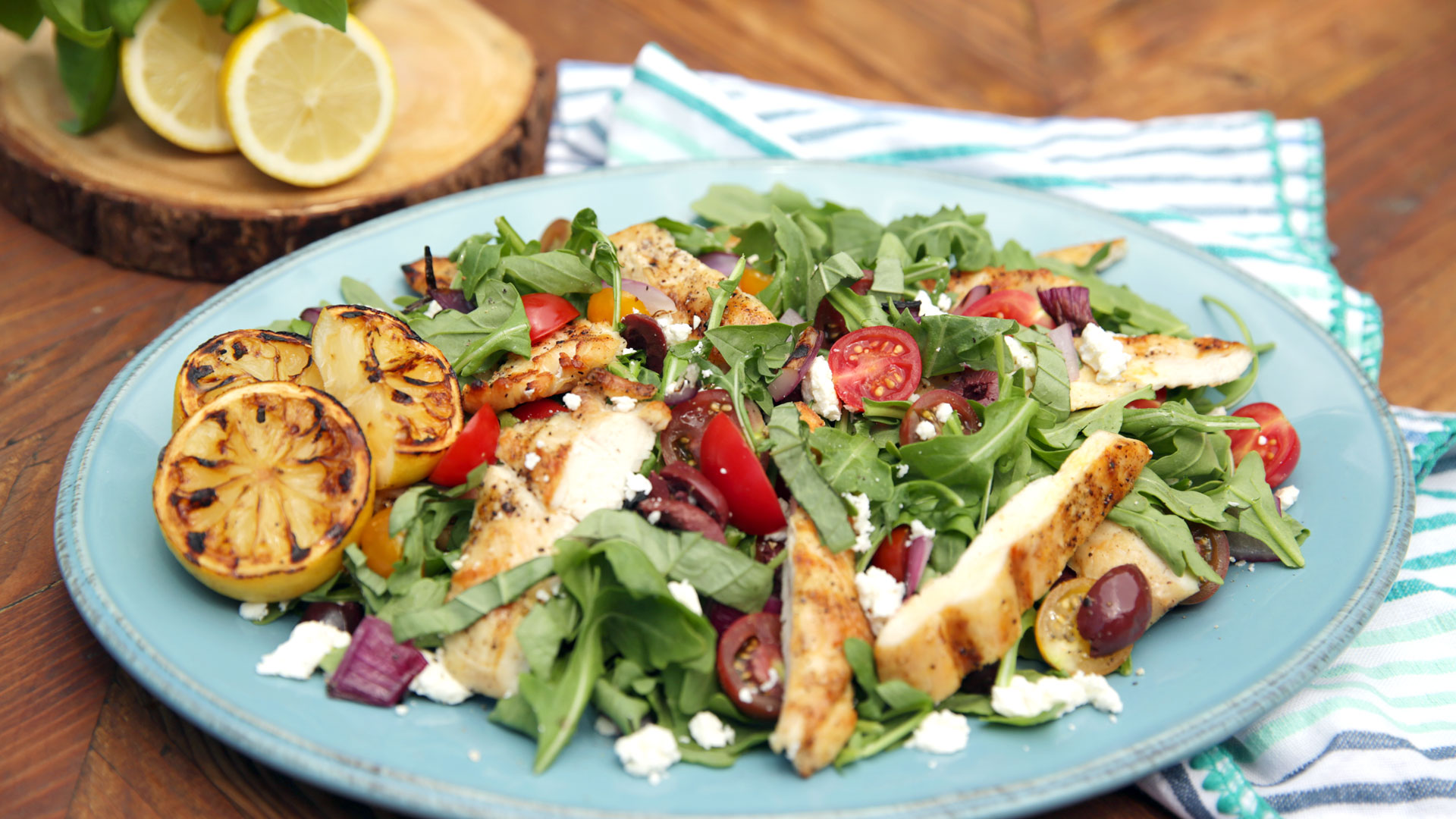 Grilled Chicken Paillard With Greek Salad Tastemade