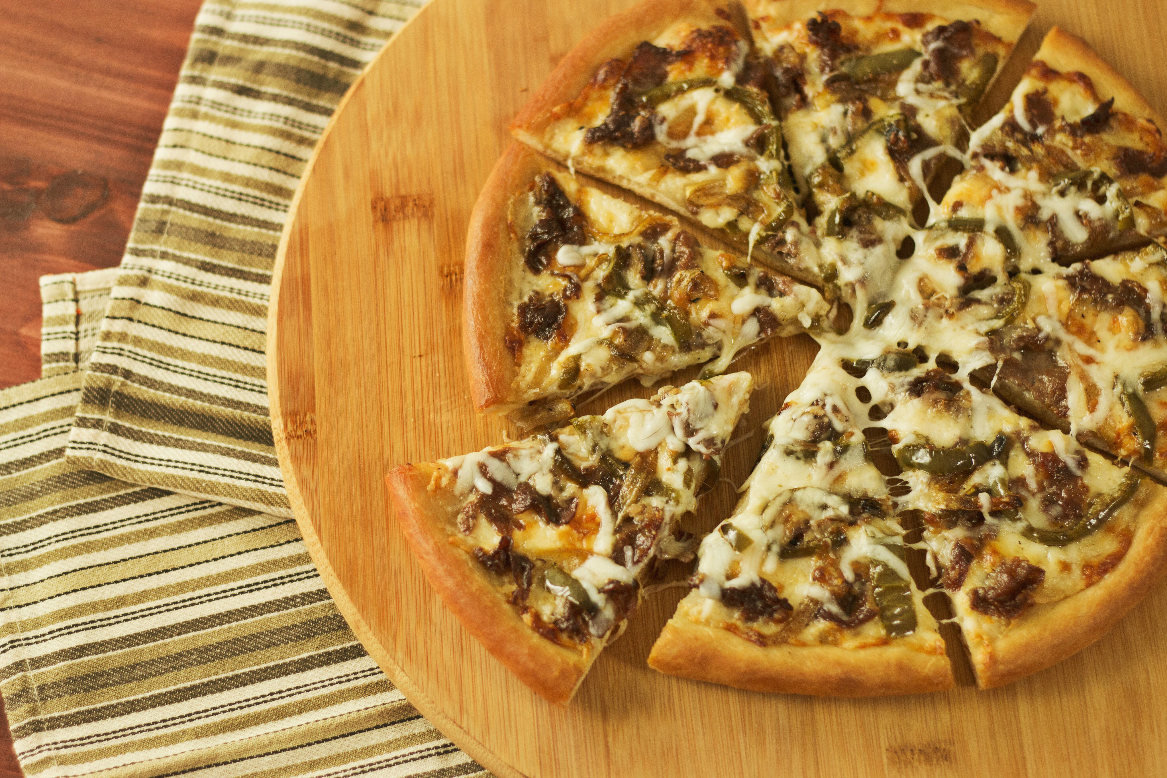 philly cheesesteak pizza hungry af tastemade