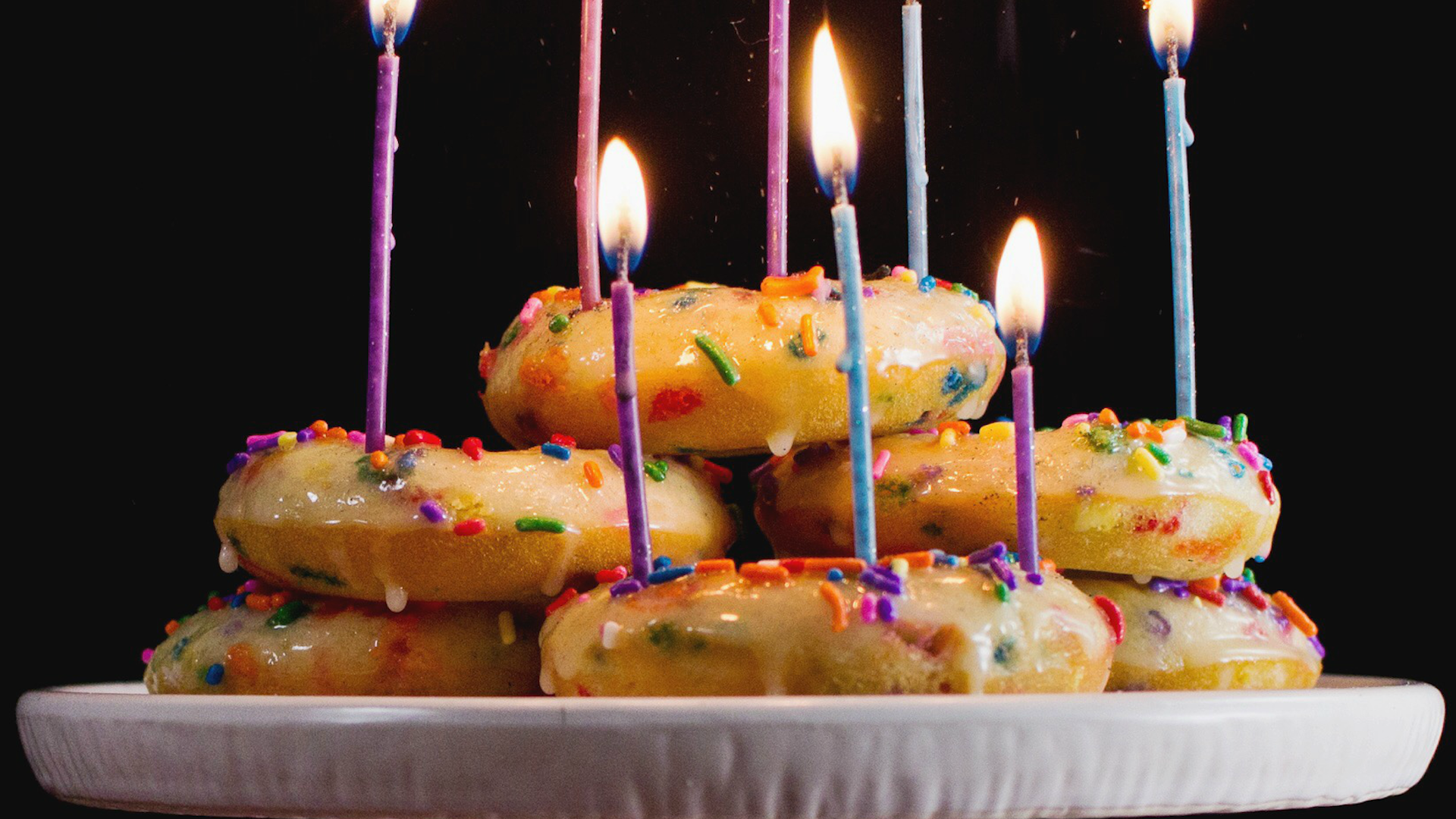 Birthday Cake Baked Donuts