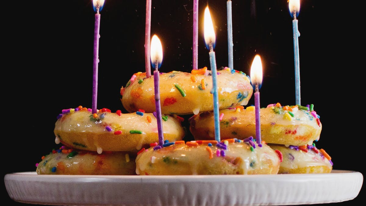 Swell Birthday Cake Baked Donuts Tastemade Funny Birthday Cards Online Alyptdamsfinfo