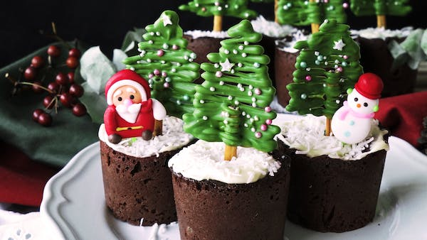 Christmas Tree Chocolate Muffins Recipe Tastemade
