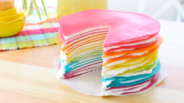 Rainbow Cr 234 Pe Cake Recipe Tastemade