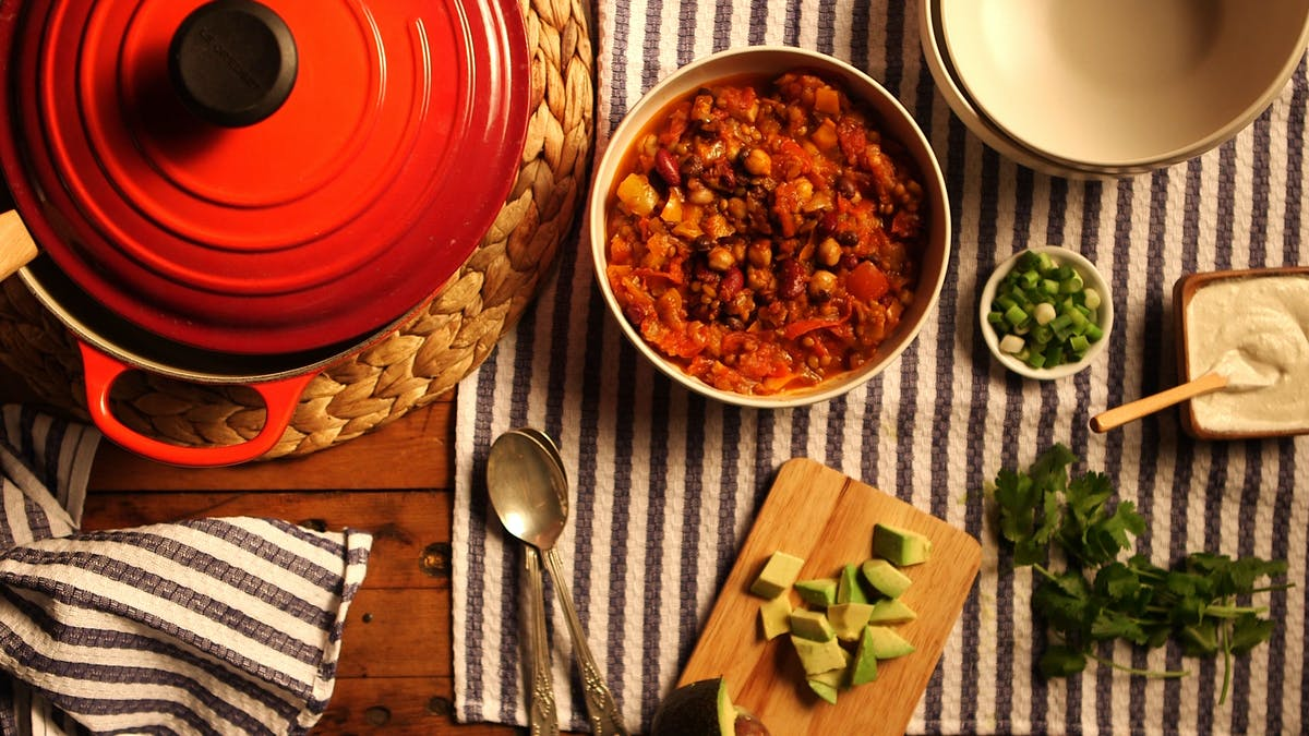 Green Lentil Vegan Chili Image