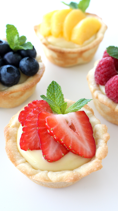 Fruit Tarts with Sugar Cookie Crusts