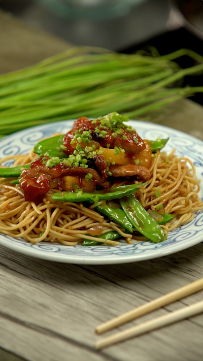 Sweet and Sour Pork Chow Mein