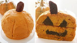Inside-Out Jack-O-Lantern Cake Thumbnail