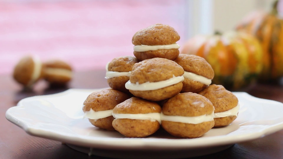 Mini Pumpkin Whoopie Pies ~ Recipe | Tastemade