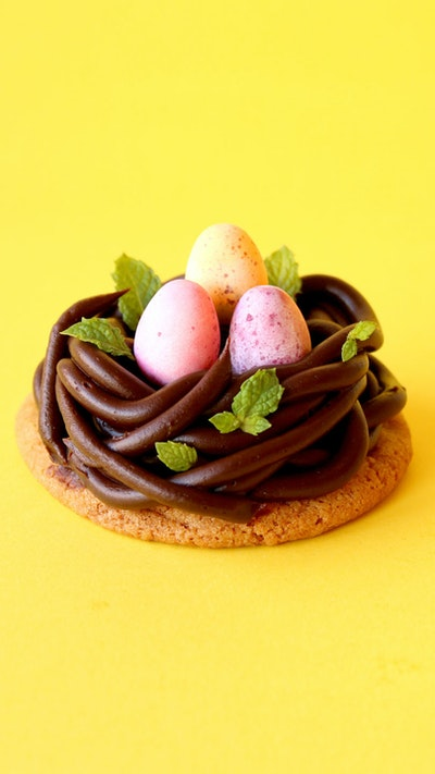 EASTER EGG NEST COOKIES