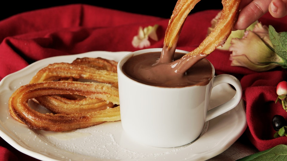 Baked Churros With Hot Chocolate Recipe Tastemade