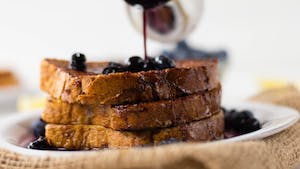 HEALTHY FRENCH TOAST WITH BLUEBERRY MAPLE SYRUP HIGH RES IMAGE 1920X1080