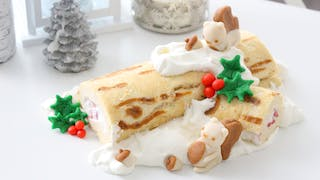 PANKOBUNNY YULE LOG CAKE LANDSCAPE NO TEXT
