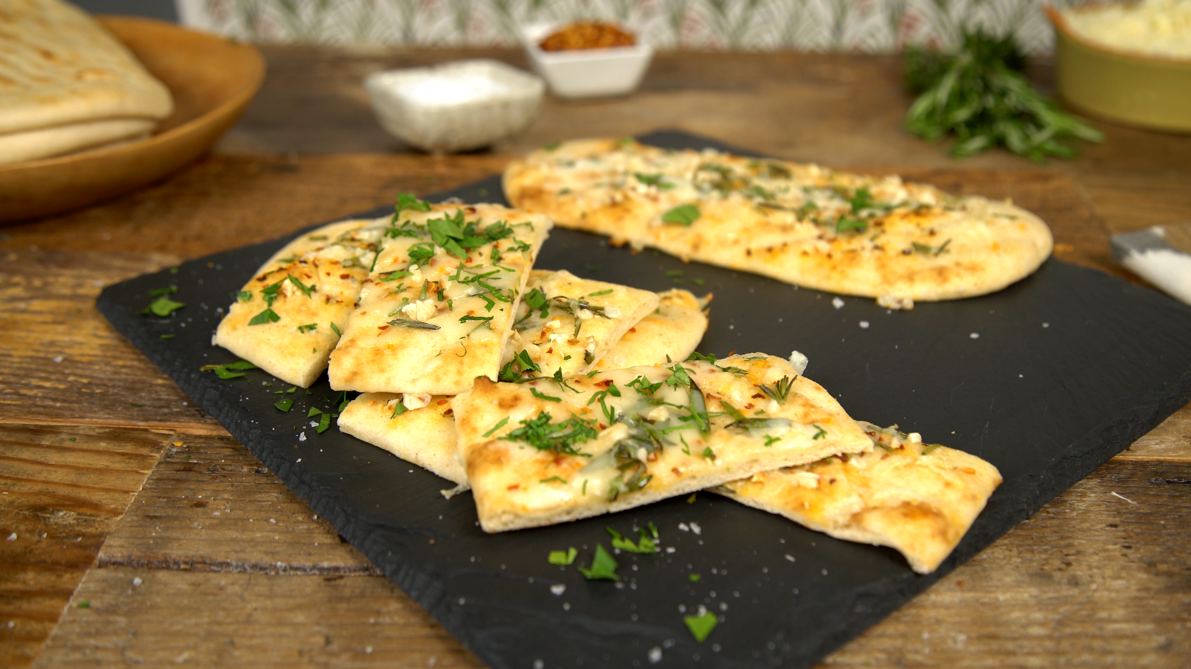 Mini Cheesy Naan Bread Tastemade