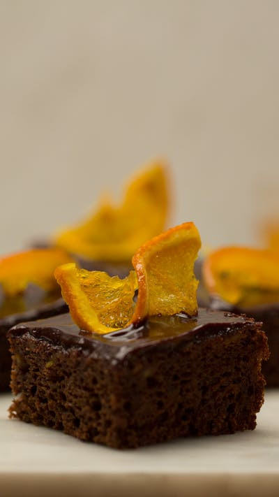 Chocolate Orange Cake Bars