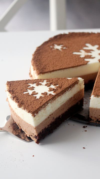 Chocolate Snowflake Mousse Cake