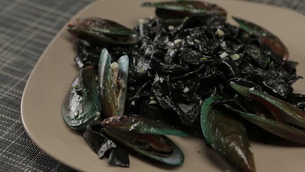 Squid Ink Noodles With Mussels Recipe Tastemade