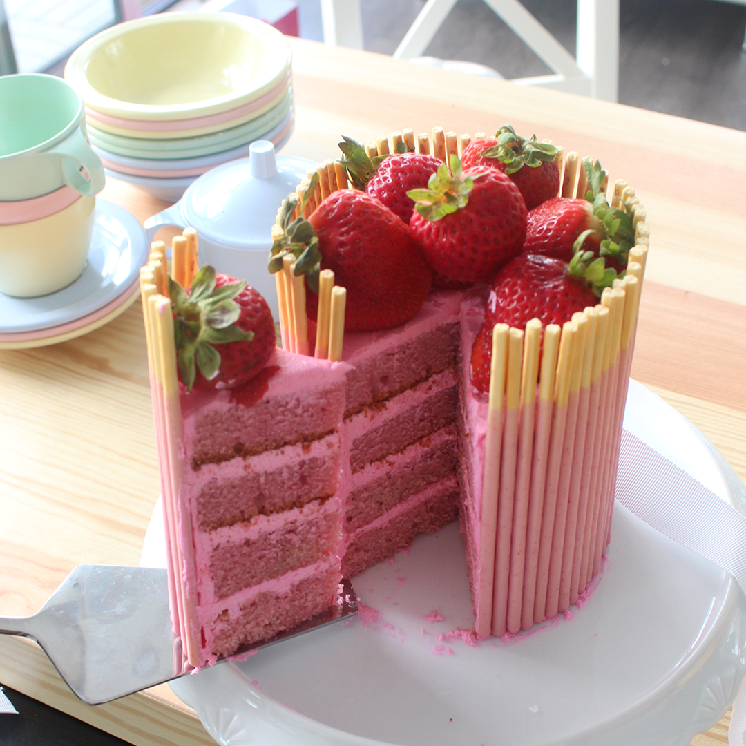 Strawberry Pocky Cake Recipe Tastemade