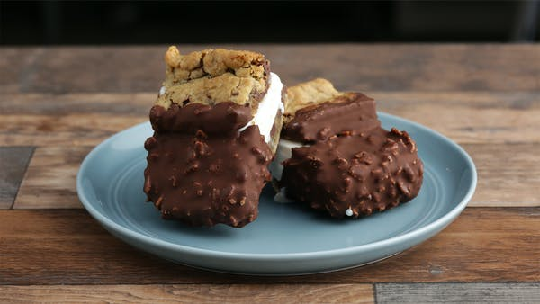 Chocolate-Dipped Ice Cream Cookie Sandwich ~ Recipe ...