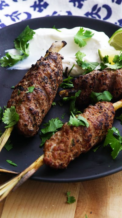 Jerk Chicken on Lemongrass Skewers