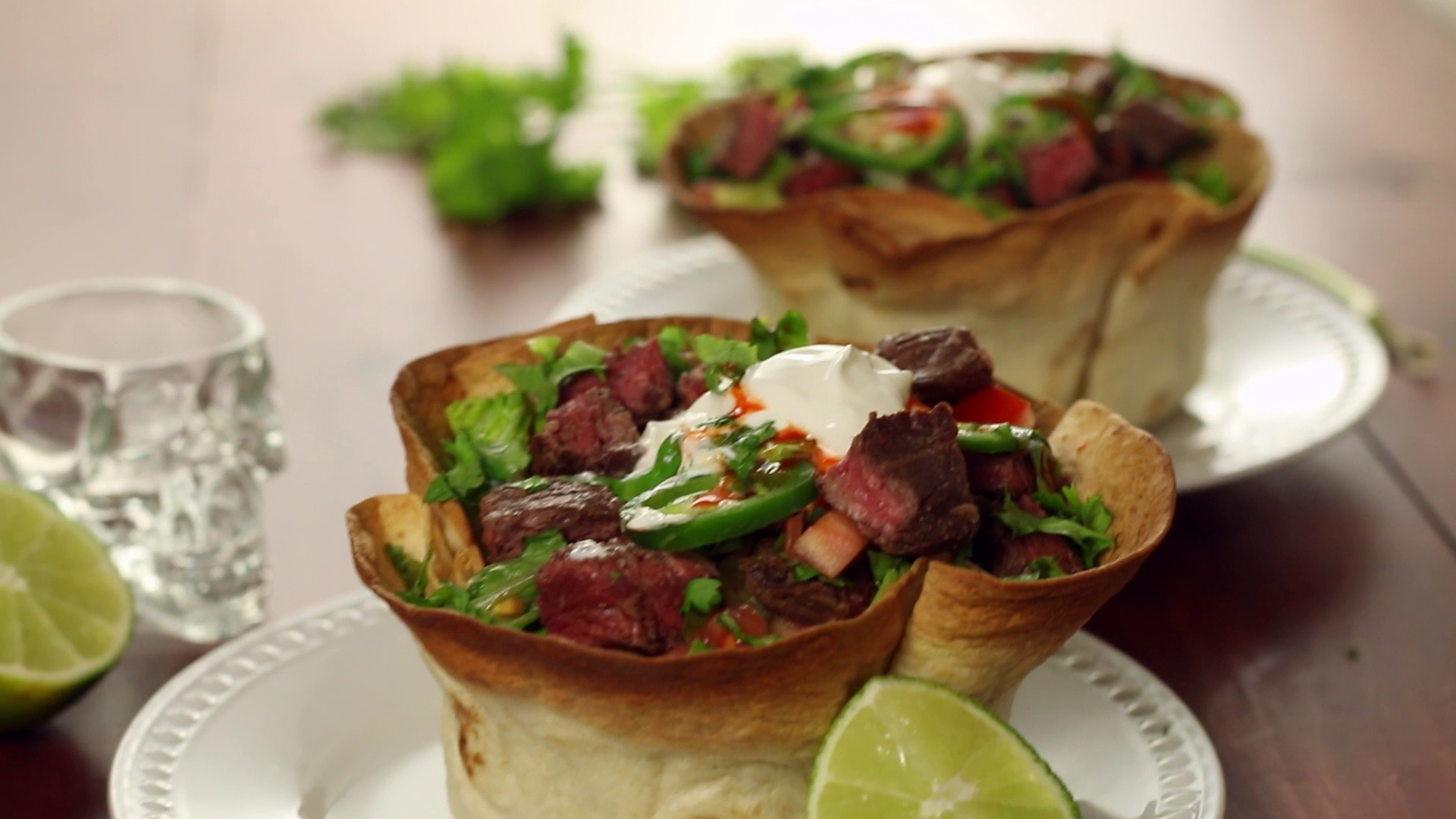 Tequila lime steak tostada bowl hungry af tastemade forumfinder Choice Image