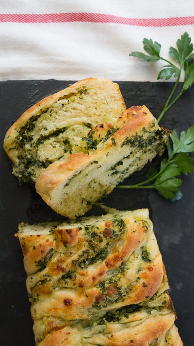 Braided Cheesy Garlic Bread