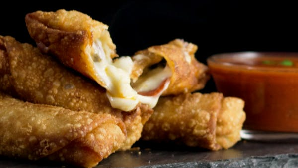 Pepperoni Pizza Egg Rolls Hungry Af Tastemade