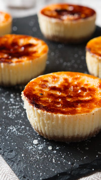 Mini Creme Brûlée Cheesecakes